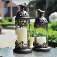 Dinner and candlelight gift Candle Candlestick Holder hotel courtyard porch decoration romantic candlestick Western-style food heat