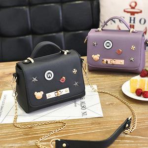 新款女包糖果色包包女小方包单肩包韩版手提包小百搭士包袋小方包