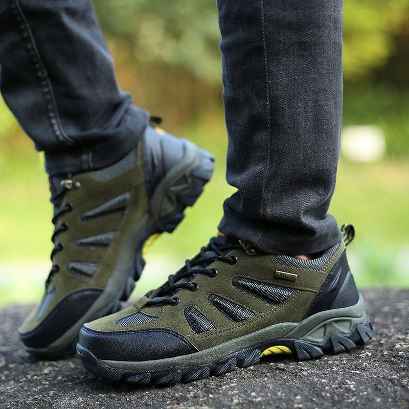 男冬季鞋子户外冲锋鞋高帮运动鞋大码45徒步鞋旅游登山鞋男休闲鞋