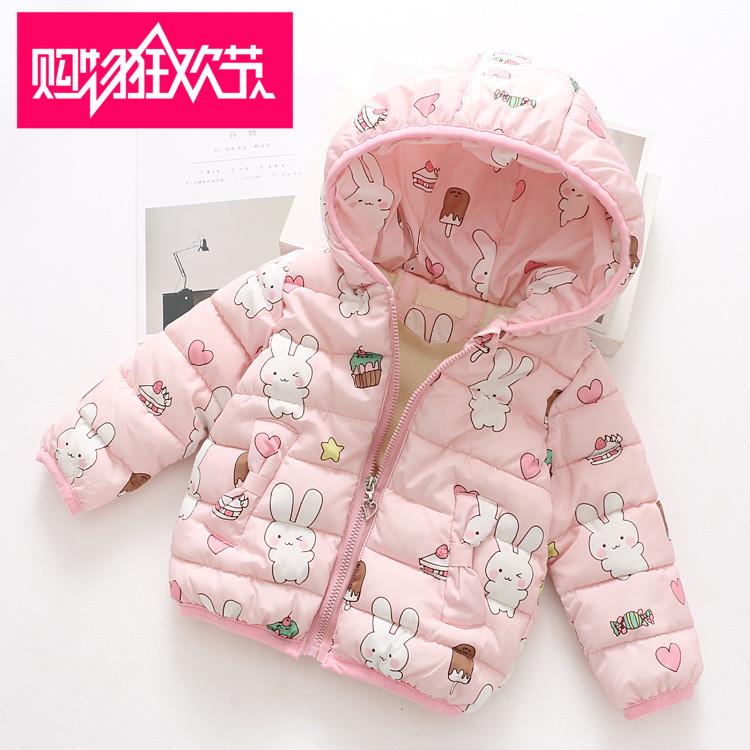 女童棉衣2017冬季新款3韩版儿童外套棉袄5岁宝宝加绒加厚羽绒棉服