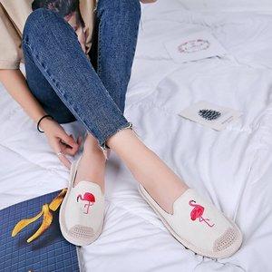 渔夫鞋女夏2018韩版复古卡通透气女鞋一脚蹬懒人鞋舒适平底女单鞋