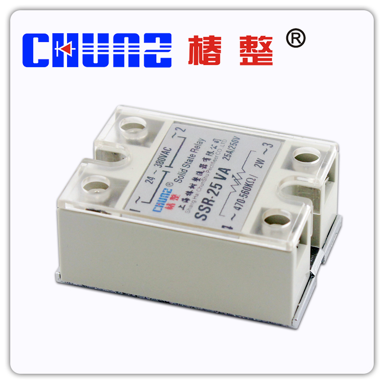 Solid state relay SSR25VA single phase solid state regulator contactless relay