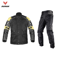 DUHAN Waterproof Motorcycle Racing Jacket + Pants Men's Wind