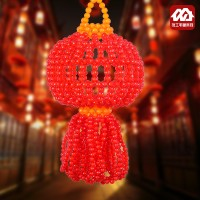 Global buy DIY beads home, red auspicious lantern pendant material package, handicraft beads weaving jewelry factory