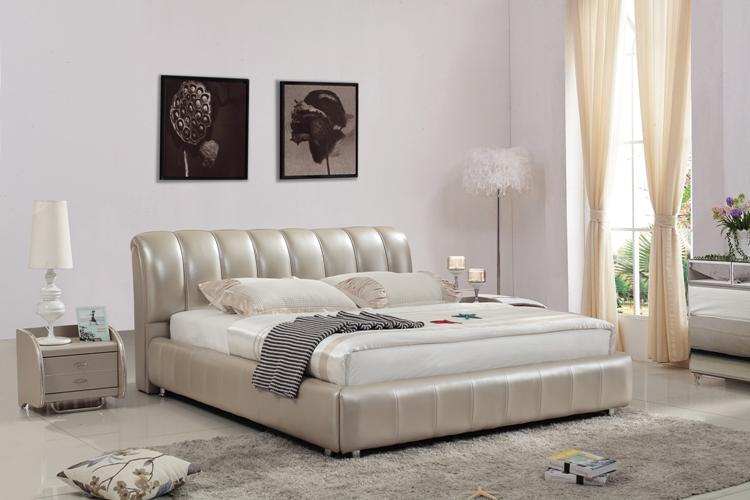 Japanese / Korean Wedding / classic solid wood bed 100 years Home Furnishing leather double bed 1.8*2 /2*2.2 meters