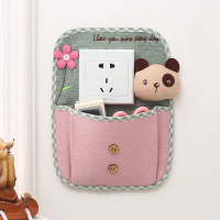 Single double switch fabric switch paste paste cartoon stereo decorative cloth paste wall switch