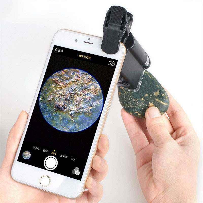 przenośny mikroskop wielokrotności biżuterii z diamentów, hd elektroniczne powiększające telefonu do powiększania 100 razy.