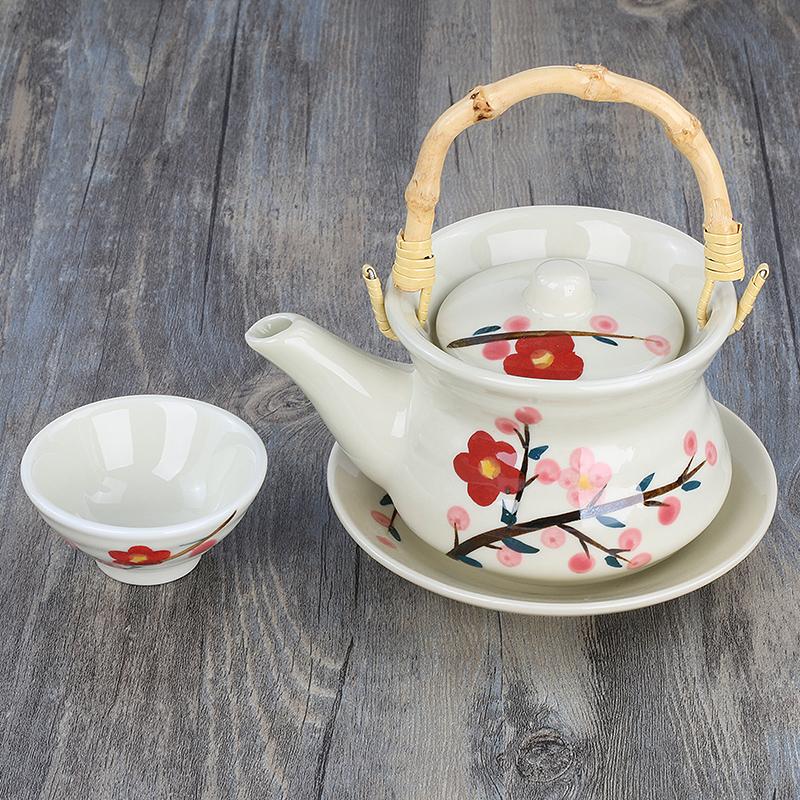 玉玉欲滴日韓式湯壺 單人茶壺 創意陶瓷荼具 套裝茶杯 日式料理餐具海鮮壺