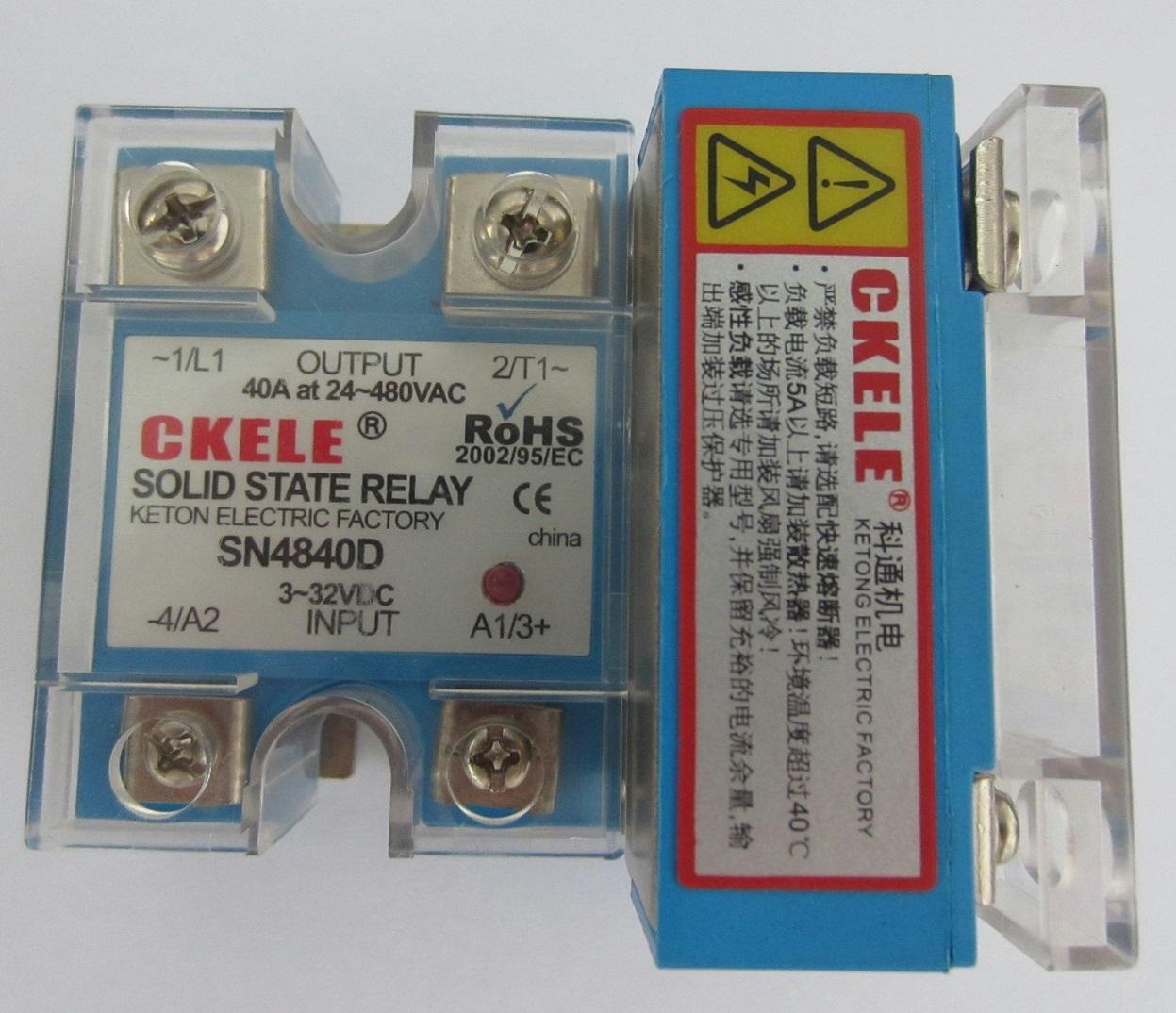 Des 0-5VDC d'isolation de type de réglage de puissance monophasé de régulateur de pression SN4840-V0540A480VAC relais à semi - conducteurs