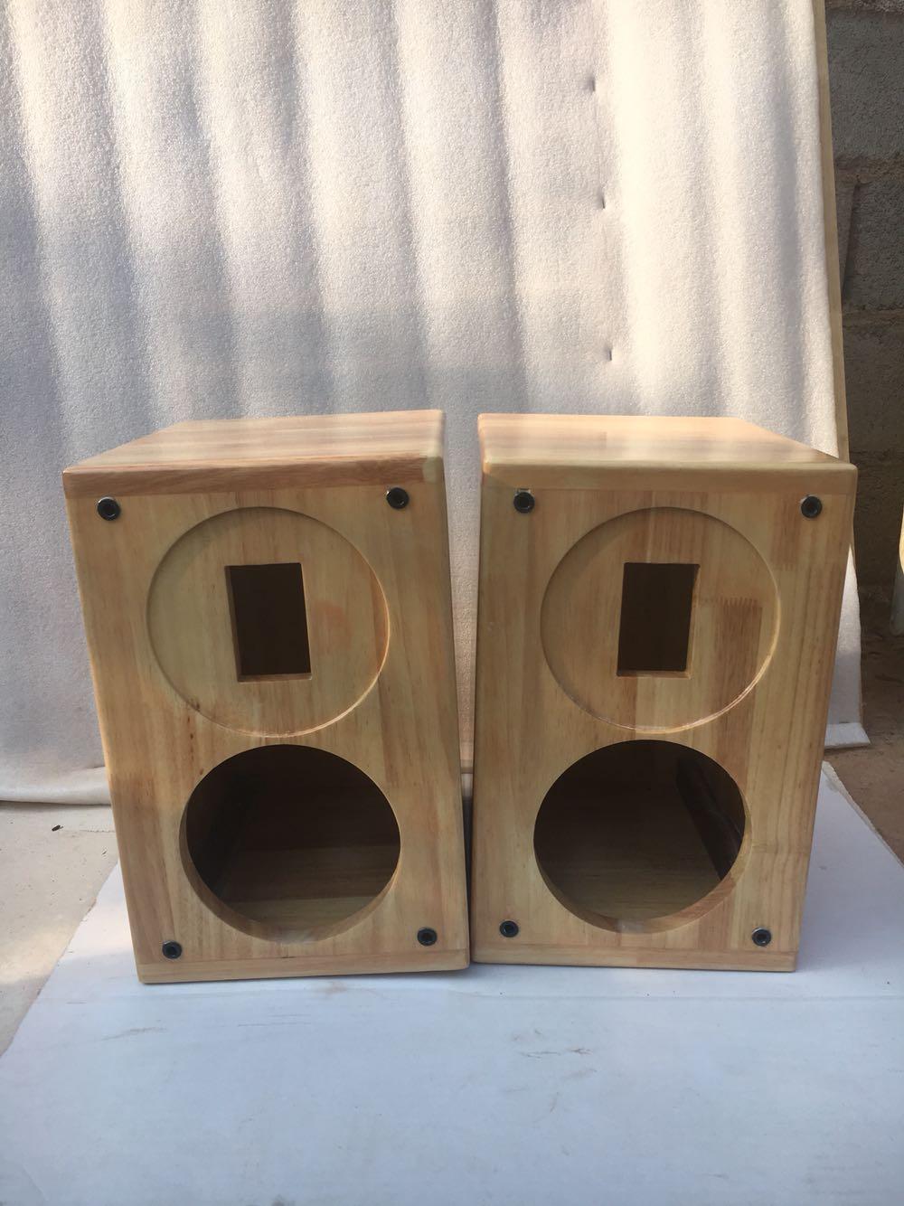 Fixed solid wood sound box 45 inch 6.5 inch 8 inch full frequency two frequency HiFi bookshelf DIY high fidelity feverish empty box