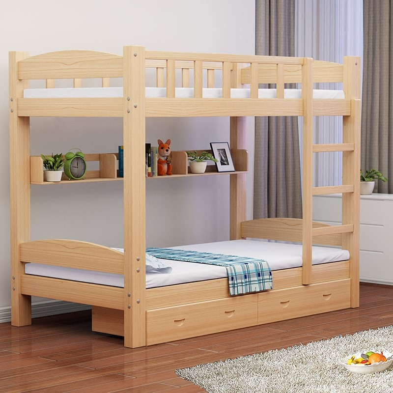 All solid wood children bed bunk bed bed height adult mother mother bed double bed bed.