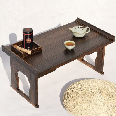 Multifunctional folding table burning portable desk computer desk on bed of paulownia wood windows tatami tea table table