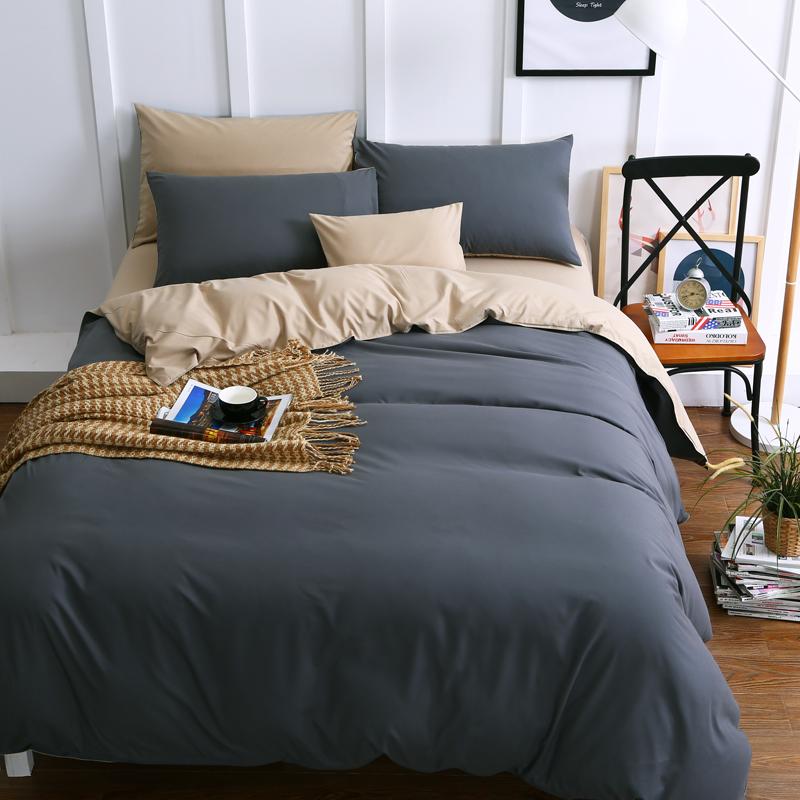 European washing four piece of cotton pure Tencel pure cotton quilt sanding cotton double bedding
