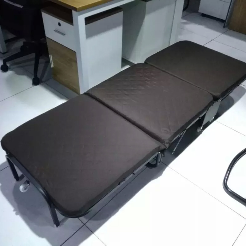 Folding bed single person simple belt wheel meridian bed rest bed, modern portable, universal portable one meter