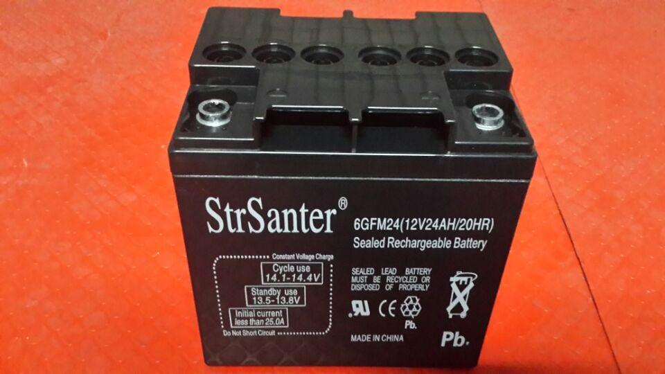 サンテール/ StrSanter12V24AH UPS電源専用鉛蓄電池