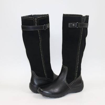 亏本清货  高端牛皮坡跟女鞋 复古时尚圆头长靴 舒适养