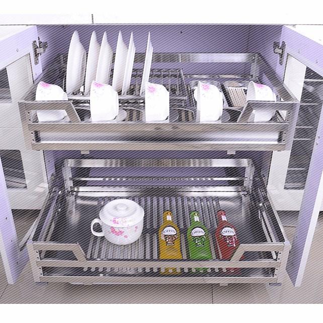 La cocina de todo el Gabinete a la personalización de todo el Gabinete de acero inoxidable 304 canasta a canasta