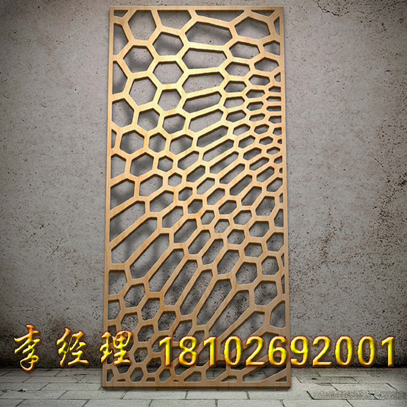 Carving board hollow carved custom punching aluminum single plate manufacturers door wall of fluorine carbon aluminum single plate shape