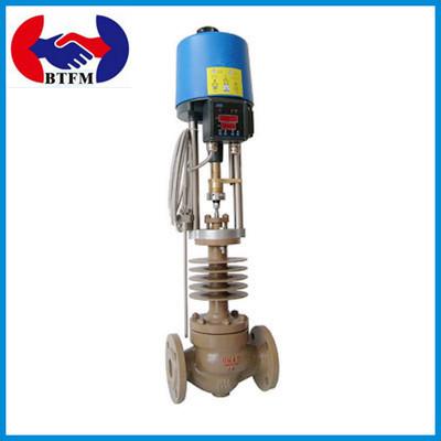 自力式電気制御温度調節弁多種媒質適用調節弁ZZWフランジの鋳鋼の調節弁