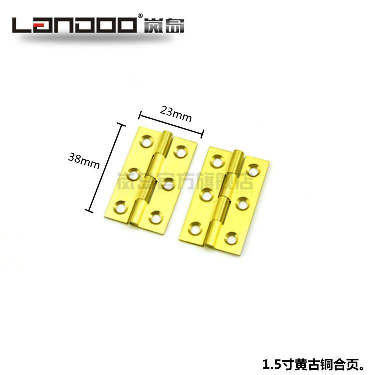 LAN Island copper hinge, 1.5 inch kitchen door, hinge door, hinge door, hinge, pure copper, bronze hinge, golden color