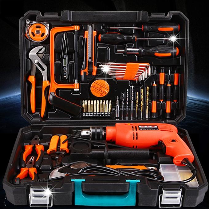 La cassetta degli attrezzi per uso domestico, Multi - funzione di Unità di manutenzione Hardware Kit di combinazione di strumenti Elettrici.