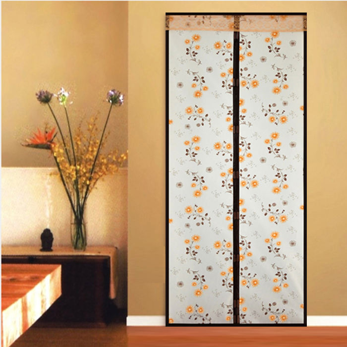Warm kitchen household air conditioning mosquito magnetic windproof door curtain plastic insulation curtain opaque air conditioning in winter