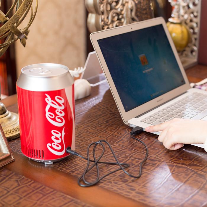 Coca - cola barriles a bordo de la nevera USB USB nevera USB nevera dormitorio frío doble mini nevera