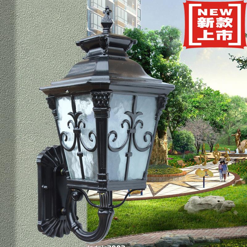 小號古銅色簡歐式壁燈 led室外陽臺仿古外墻壁燈 戶外庭院樓梯過道燈
