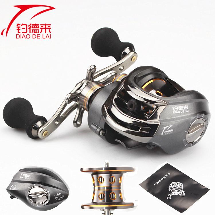 El nuevo eje de freno magnético 路亚轮 cenizas 13 gotas de agua alrededor de la rueda girando la rueda de mano de aparejos de pesca de buques pesqueros