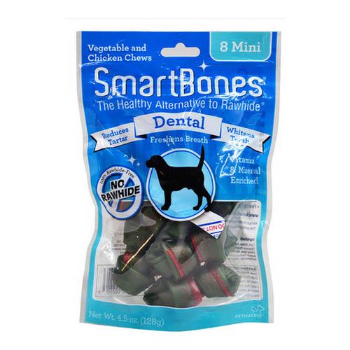 zęby w stanach zjednoczonych. SmartBones psa do czyszczenia zębów. zęby są mini - 8 kości gryzaków dla psów