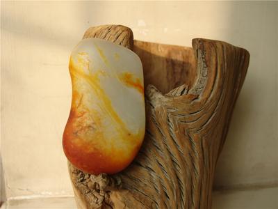 玉浩缘和田玉和田玉籽料原石红金皮高端高儒玉把玩天然原石料籽