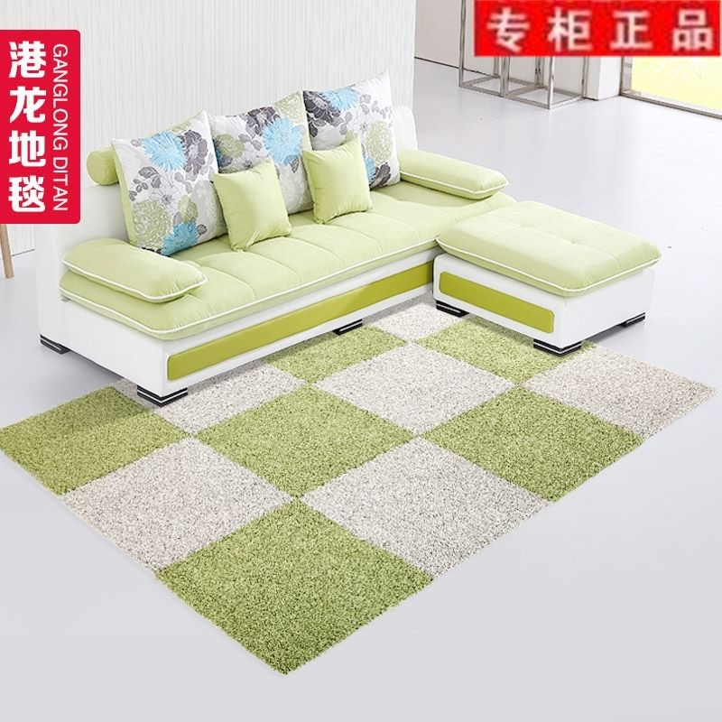 Living room table mats simple modern hand washable suede stitching bedroom bedside carpet with rectangular tatami