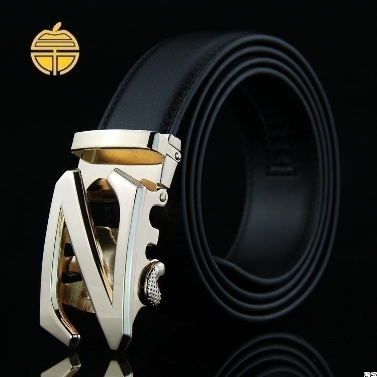 La nueva hebilla de cinturón de cuero de los hombres de negocios Z Coreano de cinturón de cuero del cinturón e8 - explosión de la moda