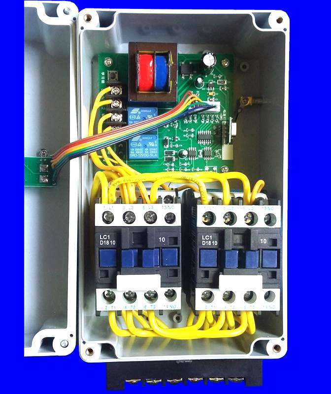 380V two pumps three phase motor positive and reverse wireless remote control switch 4KW professional reverse control