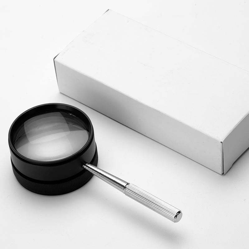 Германия HD оптического стекла линзы 35 раз чтение ручные металла антикварные украшения марки идентификации лупа