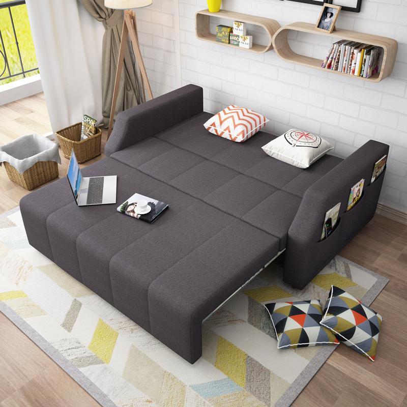 Το μικρό μέγεθος του λατέξ πτυσσόμενο καναπέ - κρεβάτι 1,5 1,2 πολλαπλών λειτουργιών αποθήκευσης στο σαλόνι ύφασμα 1,8 διπλής χρήσης διπλό