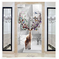 European style murals, custom made retro waterproof Nordic home non-woven living room wallpaper 3D