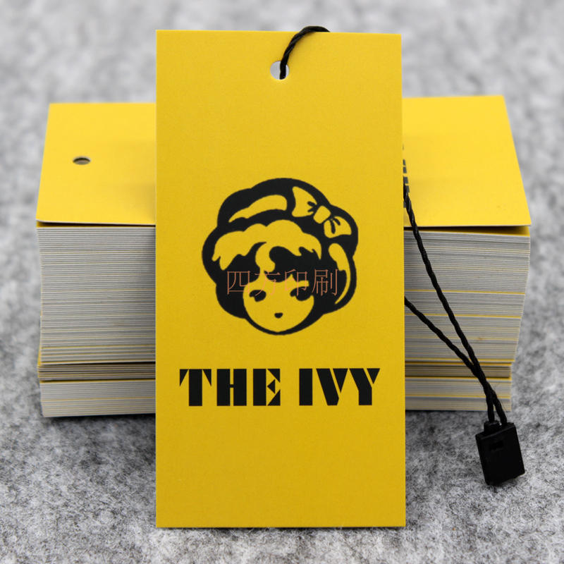 Clothing English tag spot, color tag design customized special clothing tag, professional custom printing