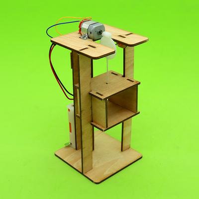 diy科技小制作电动升降机steam创客教育科普手工材料儿童拼装模型