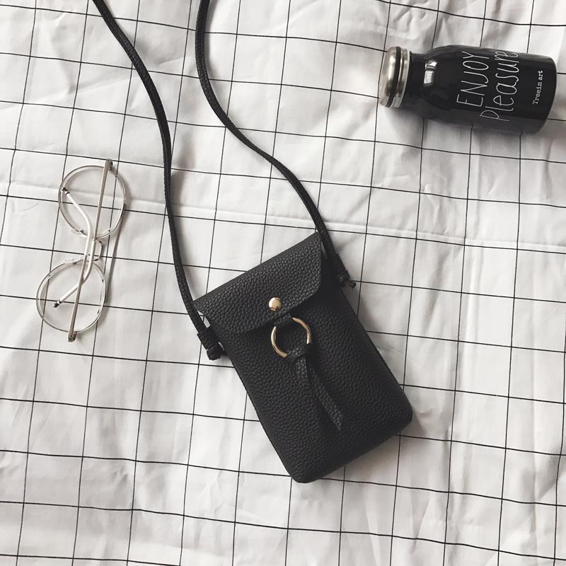 黑色流苏包手机包