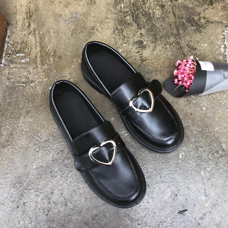 小皮鞋女英伦学院风平底软妹原宿复古单鞋韩国ulzzang大头娃娃鞋