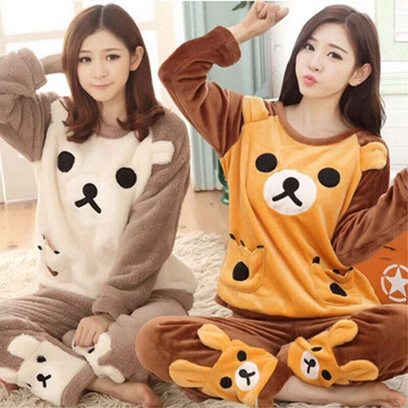 Pajamas, women, black pigs, dinosaurs, Siamese pajamas, autumn and winter animals, lovely couples, coral velvet, adult men's flanges