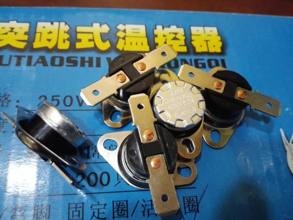 KSD301 grados el termostato 250V10A90 interruptor normalmente abierto de lazo de control de temperatura de pies planos protección térmica