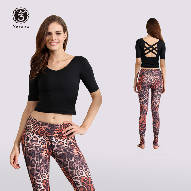 Parana autumn and winter fitness sexy yoga clothes, women's blouse, slim, breathable, sportswear, chest removable package