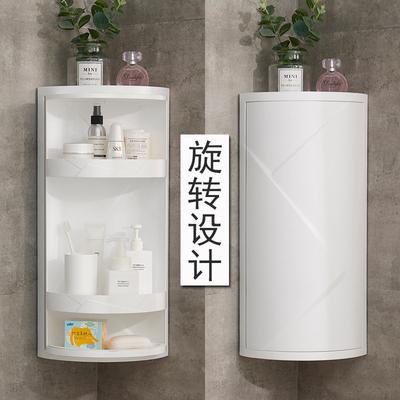 可旋转卫生间置物架壁挂免打孔浴室洗手间收纳架厕所三角储物架子