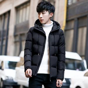 Plover男士外套冬季新款男装青年韩版衣服短款棉袄羽绒棉服修身