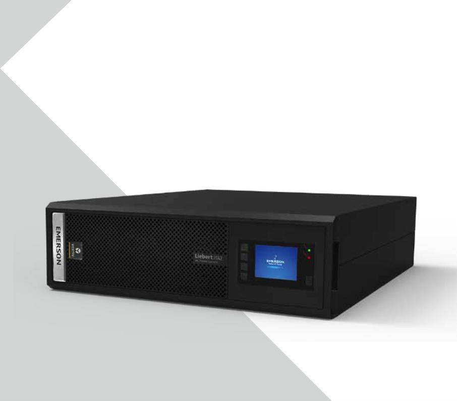 Emerson ITA-06k00AL1102C00UPS e design de 6KVA Rackmount UPS bateria externa