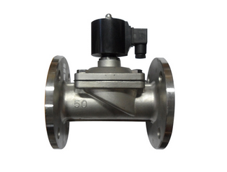 Stainless steel 304 flange normally closed gas and natural gas solenoid valve 2W-400-40S