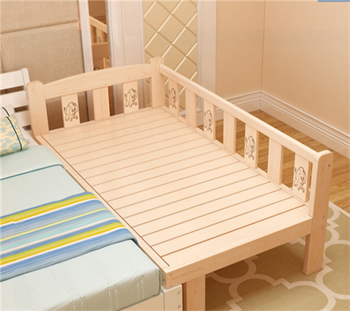 New fashion children bed widened bed, lengthened solid wood bed, pine bedstead, single bed, double bed, bed plate can be customized