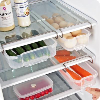 优思居 冰箱储存保鲜盒 抽屉式透明分层隔挂架水果食物塑料收纳盒